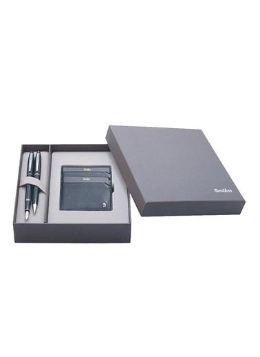 Scrikss Dr Comfort 208 35 Kalem Seti ve Kredi Kartlık Siyah Renkli